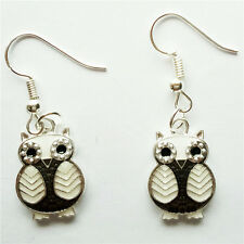 1 pair  Women Ornament Fashion Accessories Charm Jewelry silvery Owl Earring #91
