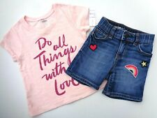 New 2T Old Navy t-shirt~Gap Shorts~Capri pre-owned Girls Clothes Jeans Love