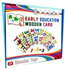 PUZZLE INFANTIL NUMEROS MADERA APRENDIZAJE WOOD LEARN NUMBERS EARLY EDUCATION