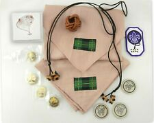 BSA Scout Wood Badge Lot Slide Pins Patch Cards Nickels Ties Neckerchiefs S10i