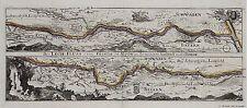 Antique map, Der Lech Fluss von Fuessen im Algow an, bis zu seinen Auslauff ...