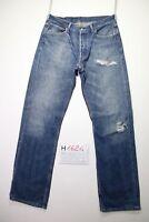 Levi's 501 Destroyed  (Cod.H1624) Tg.48 W34 L34 jeans usato vintage