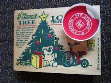 Christmas IQ I Q Tester Wooden Wood Board Peg Game Venture RARE I.Q. Vtg 1996