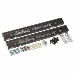 Edelbrock 3627 Fuel Injection Fuel Rail, -6 AN Black, For Chevy Small Block