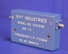 RYT Industries 1.7000GHz - 7.0000GHz Model 202339 Circulator Isolator