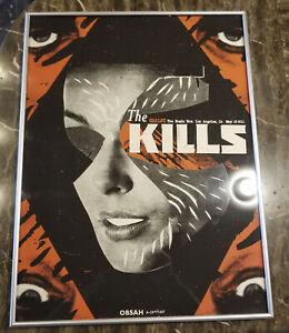 The Kills 1st Run Original Ltd Ed Concert Poster Live Hollywood CA 2011 FRAMED