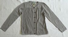 Grey Pointelle Front Cardigan With Silver Flecks Throughout By Peek Sz XL (10)