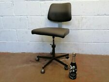 Brown Leather Reupholstered Vintage Office Chair Free Manchester Delivery