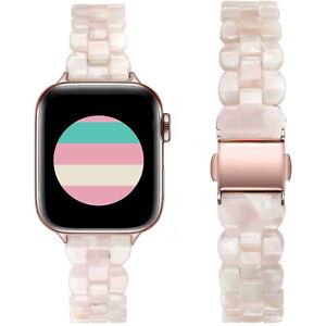 Watch Bands Women Slim Resin Bracelet Strap for iWatch SE Series 6/5/4/3/2/1