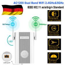 Wavlink 1200Mbps Gigabit WLAN Repeater Dual Band WIFI 2.4G&5G Range Extender AP