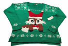 nwt womens ugly christmas holiday Baby Fox Knit sweater sz large