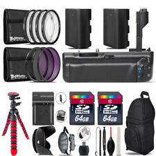Battery Grip Bundle For Canon 70D / 80D + 2x LP-E6 Battries  + 128GB Kit - 67mm