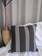 Lovely FILIGREE Tindal Ebony Black White Striped Cushion Cover SALE SALE