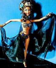 Bellydancer beauty in blue Ooak barbie Doll