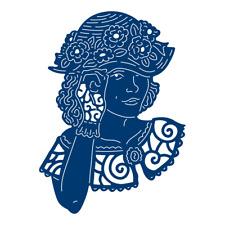 Tattered Lace Penelope Die-TLD0551-Glamorous Dama Vintage Con Sombrero De Flores