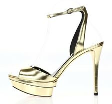 B BRIAN ATWOOD Womens 'Femme Fatal' Gold Peep Toe Dress Sandals Sz 8.5