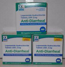 Quality Choice Loperamide HCL Caplets Anti- Diarrheal, 2mg 60ct - 3 Pack