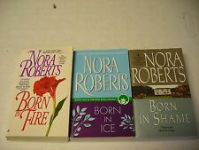 3  BORN TRILOGY  NORA ROBERTS  COMPLETE FIRE ICE pb lot