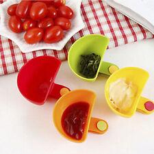 newc 4Pcs Assorted Salad Sauce Ketchup Dip Clip-on Cup Bowl Saucer Kitchen