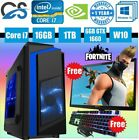 Cit F3 Blue Gaming Computer Pc Bundle Intel I7 2600 16gb 1tb Gtx 1660 19'' Led