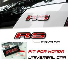 Red RS Letter Logo Emblem Badge Sticker For Honda Universal Multi Model