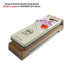Original KING 1000/6000 Grit Sharpening Stone Whetstone Water Knife Stone Japan