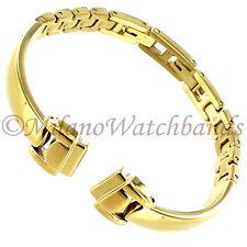 10mm Glam Rock High Quality Elegant Solid Link Gold Tone Ladies Band GBBG03SY