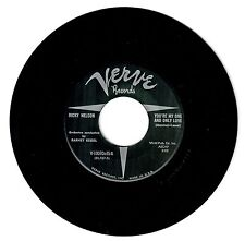 Ricky Nelson Barney Kessel 1957 Verve 45rpm My One & Only Love b/w Honey Rock NM