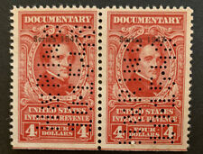 G5/43 Us Stamps Revenue Bob Doc 1947 R476 $4 Pair Unh Very Nice Pair Coll