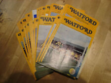 Watford Home Teams S-Z Football Programme Collections/Bulk Lots