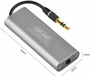 HIFI Amplifier, Mini HIFI Stereo Headphone Earphone Power Amplifier AMP 3.5mm