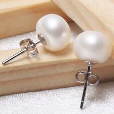 Elegant Women Lady Sterling Silver Ear Stud Crystal Rhinestone Hoop Earrings TN