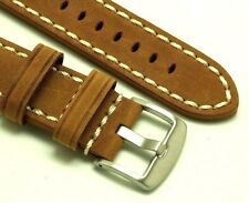 22mm Brown Crazy horse Leather Replacement Watch Strap - Panerai Radiomir 1940