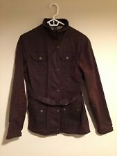 Ladies Barbour Style Sherwood Forest Wax Jacket Brown Short UK Size 10 - UK Made
