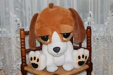 Dutch Holland White & Brown Sitting Dog Plush Jumbo Littlest Pet Shop Pop Eyes
