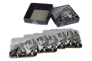 Untersetzer Berge Mont Blanc 6er Set Kork Bierdeckel Glasuntersetzer 10 x 10 cm
