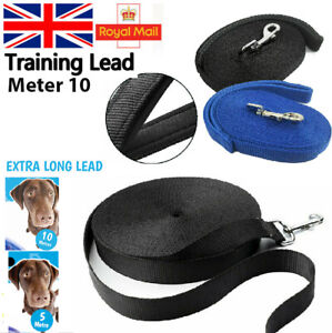 10m Heavy Duty Extra Long Dog Training Lead Strong Leash Large Recall Walking UK