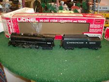 LIONEL TRAINS NO. 8603 C & O HUDSON LOCOMOTIVE AND TENDER 1976-77 - VERY NICE