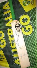 Shane Warne (Australian Test Legend) signed Art Mini Cricket Bat + COA