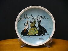 New ListingNorman Rockwell When in Rome display plate 1982