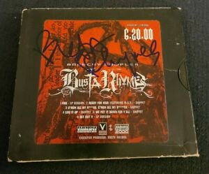 BUSTA RHYMES SIGNED ANARCHY CD SAMPLER BREAK YO NECK W/COA+PROOF RARE WOW