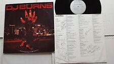 D.J. BURNS - Self Titled s/t PRIVATE 1988 HARD ROCK Autographed Lyric Inner (LP)