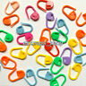 60pcs Bulk Craft Colourful Knitting Crochet Locking Stitch Marker Needle Plastic