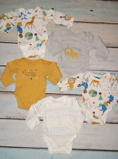 Marks & Spencer BNWTBaby Boys Set Of 5 Long Sleeved Bodysuits Size Up To 1 Month