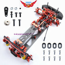 RC 1:10 Drift Racing Car G4 Frame Chassis disassembly Kit 4WD Metal&Carbon