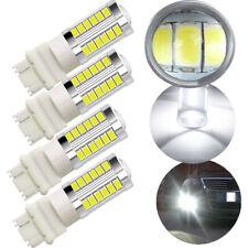 4Pcs White 3157 3457 T25 33SMD LED Bulbs Brake Parking Light Turn Signal Lamps