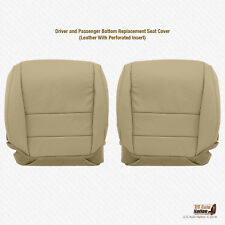 FOR 2004 2005 Acura TL Driver/Passenger Bottom Perforated Leather Seat Cover Tan