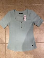 Abercrombie & Fitch Short Sleeve Ribbed Top L NWT