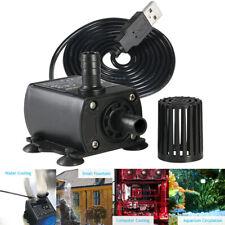 Mini USB DC 5V 2.4W Brushless Water Pump Waterproof Submersible Aquarium 250L/H