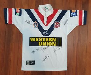 2003 Signed Sydney Roosters Jersey - Small